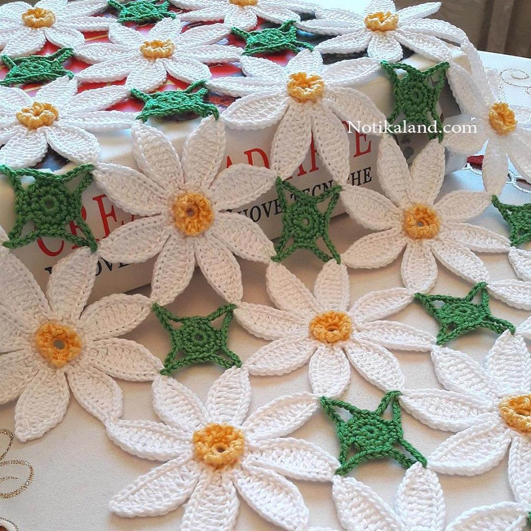 CROCHET Flower Pattern Daisy