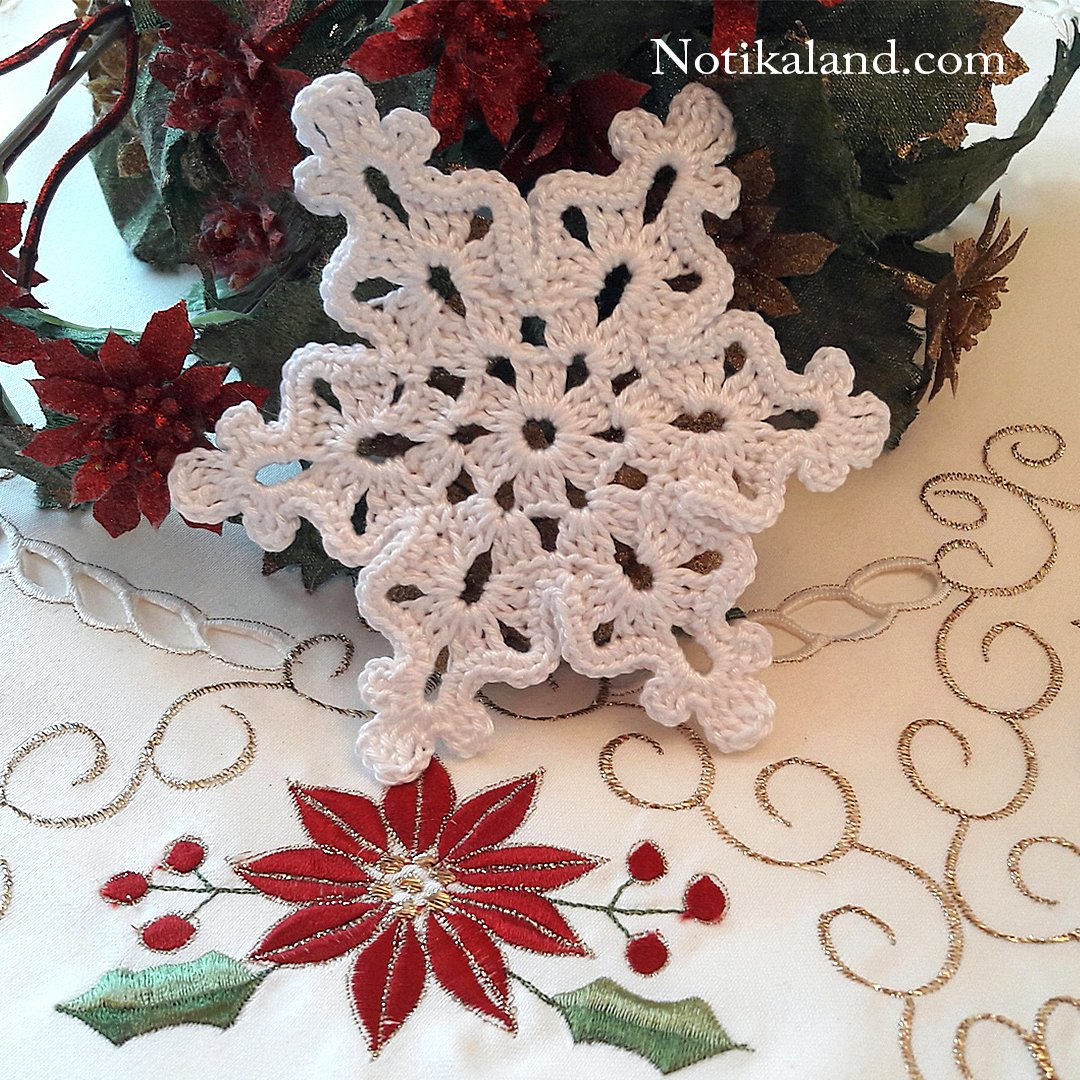How to crochet  motif Snowflake