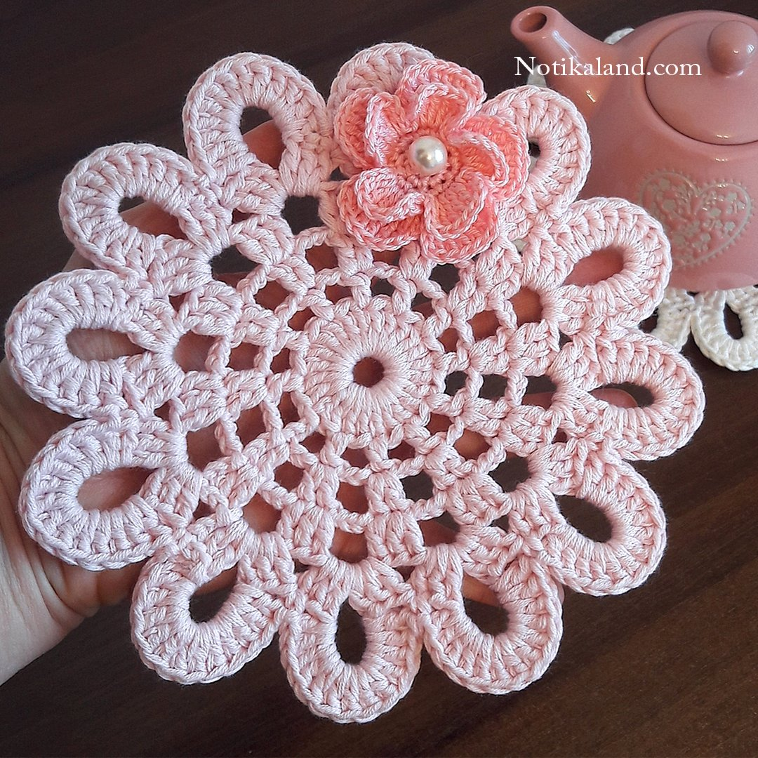 CROCHET Doily Coaster. EASY Tutorial.