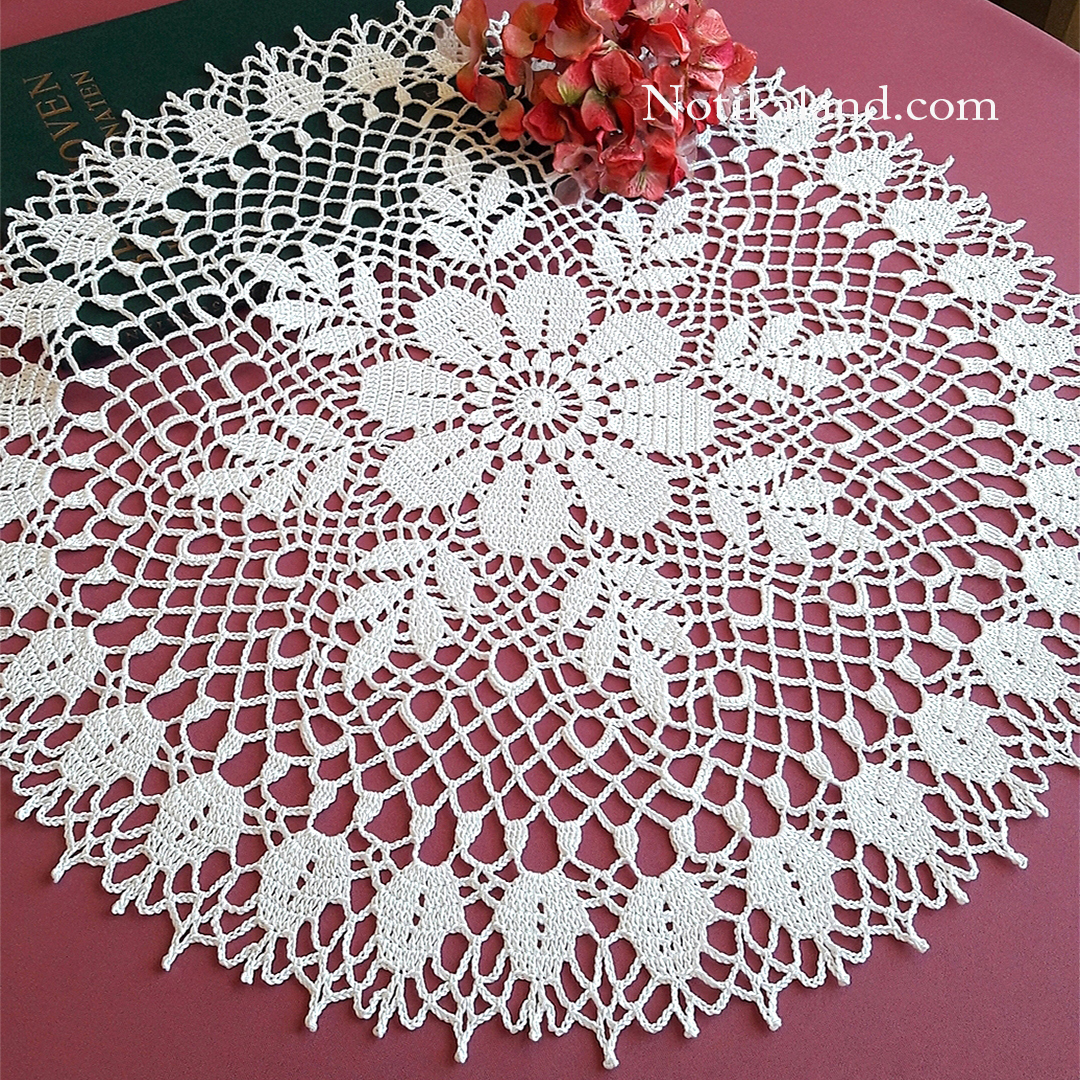 CROCHET. How to crochet doily.