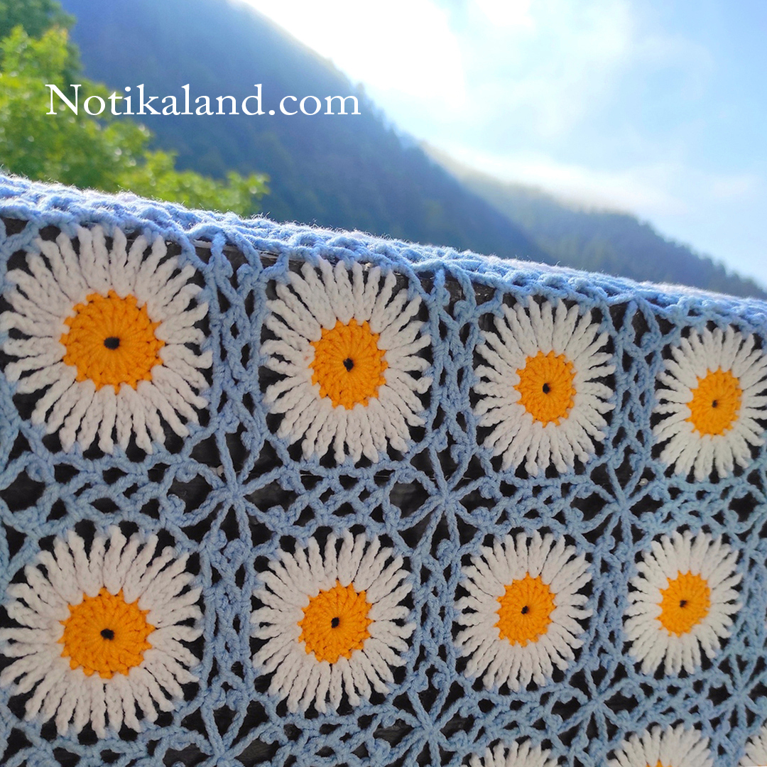 Crochet pattern. Blanket.