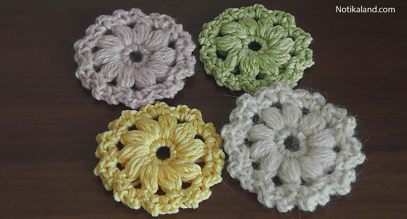 crochet flower pattern tutorial 1