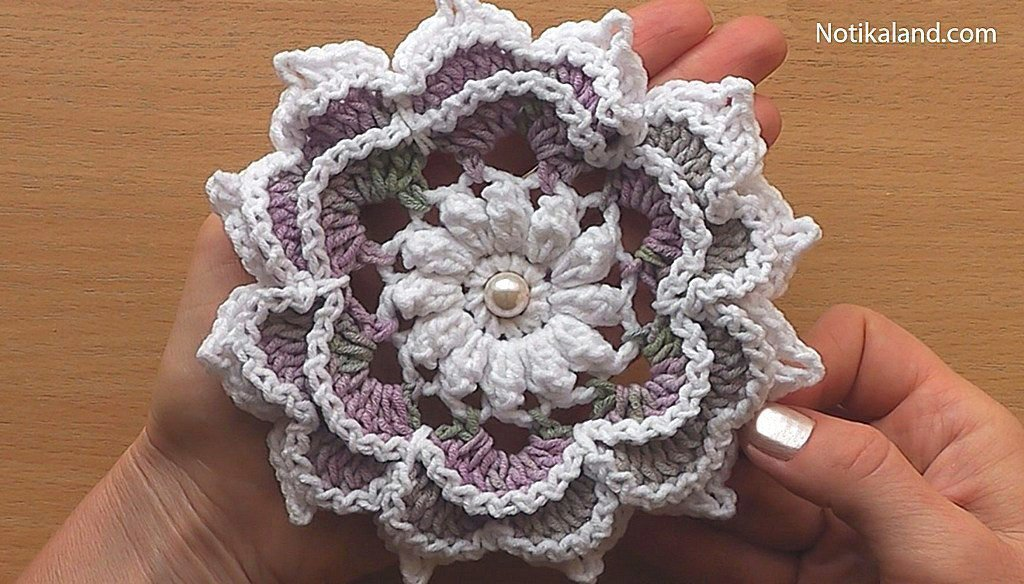 Crochet Flower Rose Very Easy Tutorial #2
