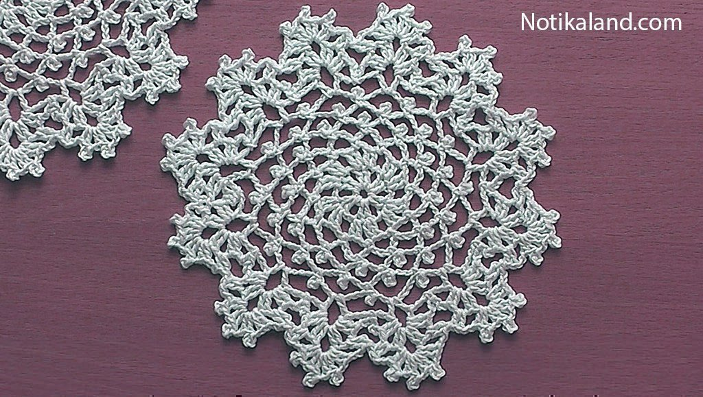 Notikaland - Crochet Doily for Beginners Step by step Tutorial