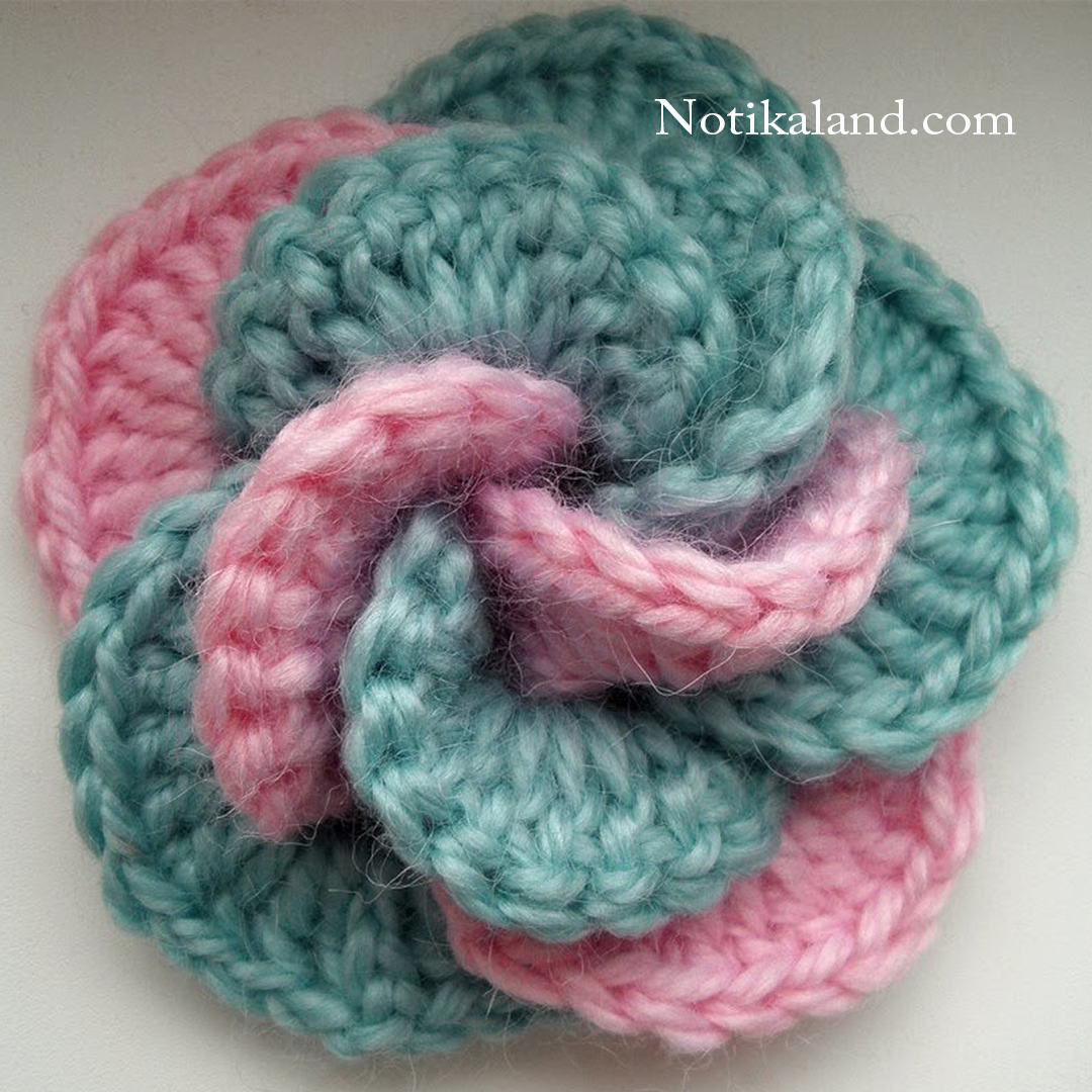 Crochet flower. Tutorial