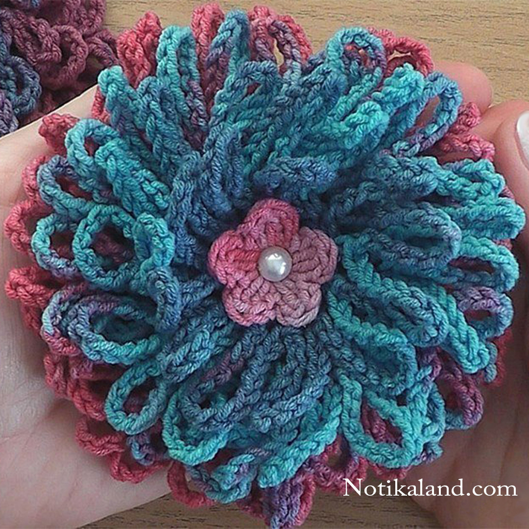 Crochet flower tutorial easy for beginners