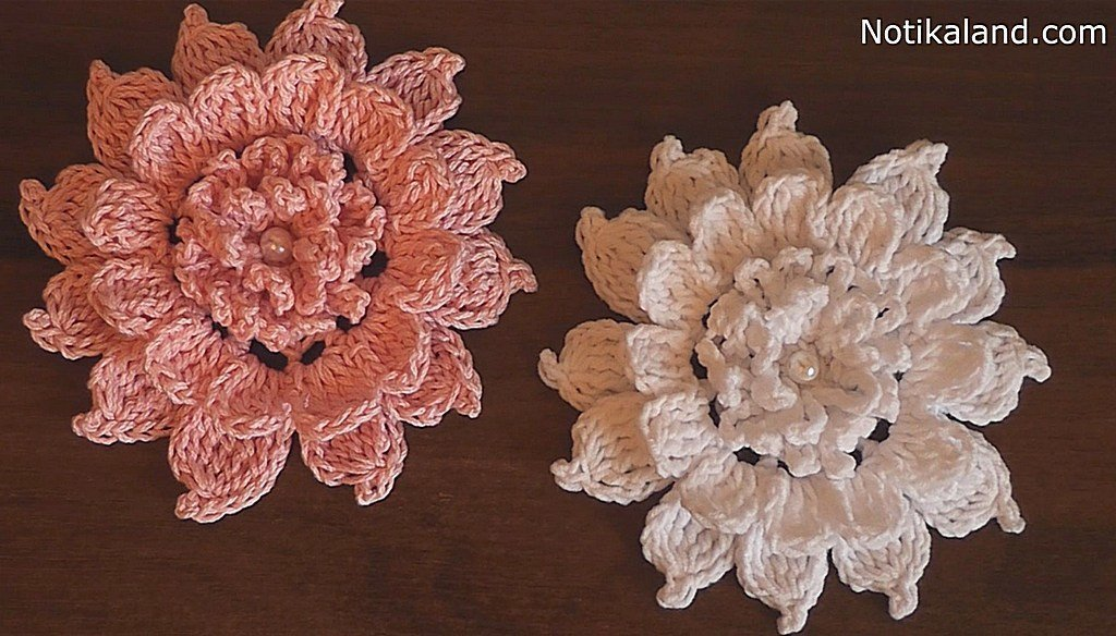 How to crochet flower. Tutorial.