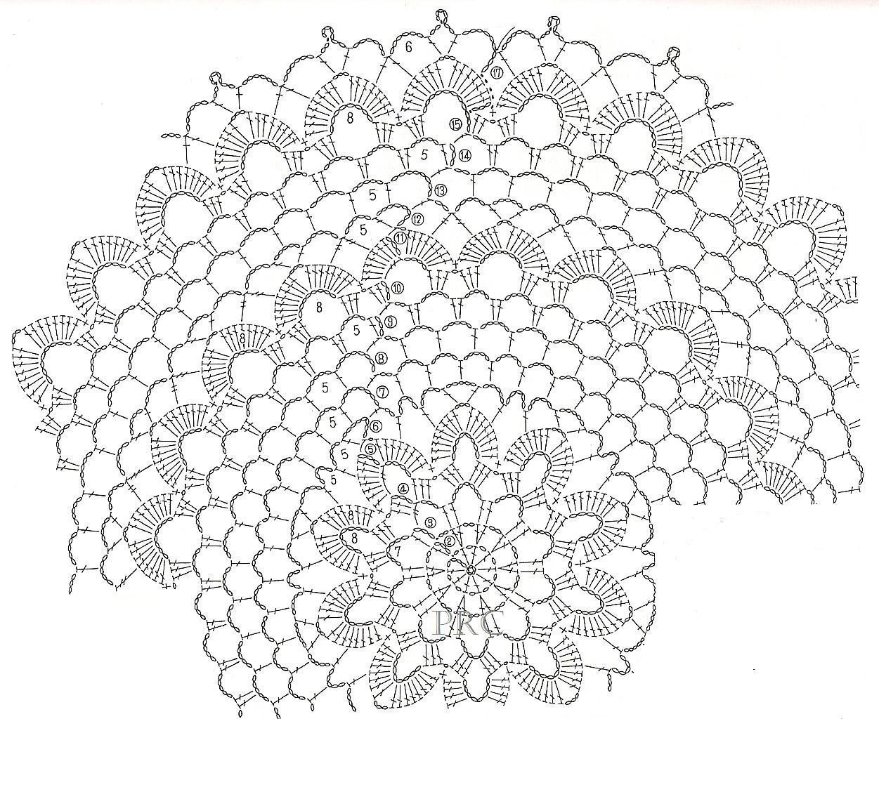 How to crochet doily. 1