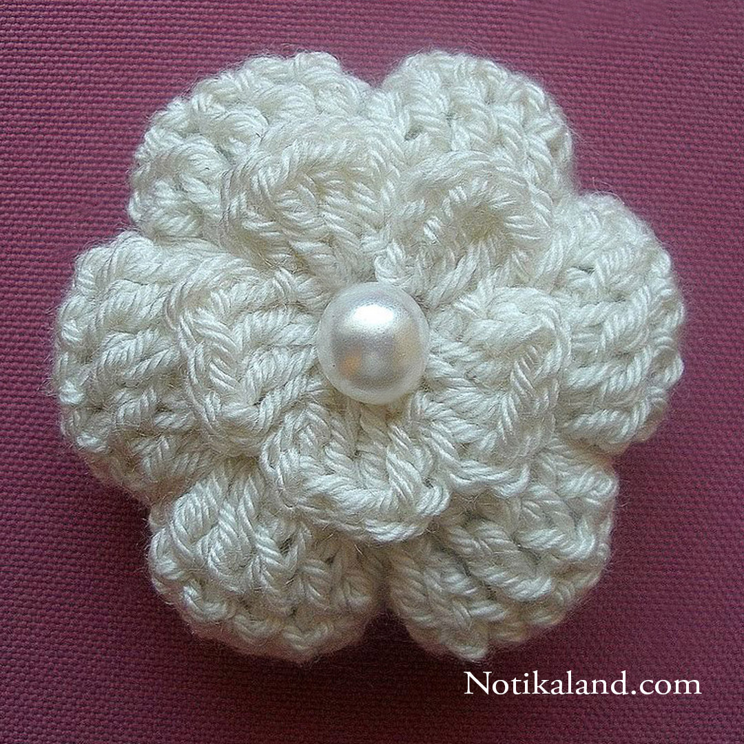 crochet flower 3D tutorial