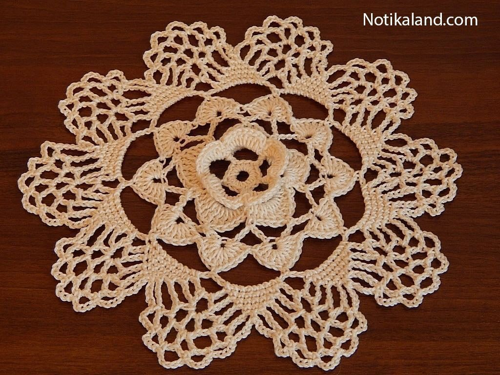 Crochet doily. Diagram.
