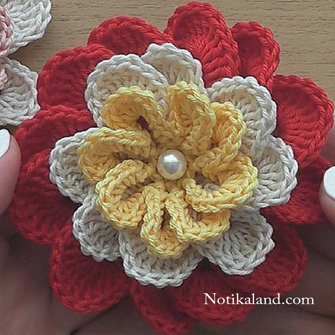 Crochet Flower for decor. VERY EASY tutorial