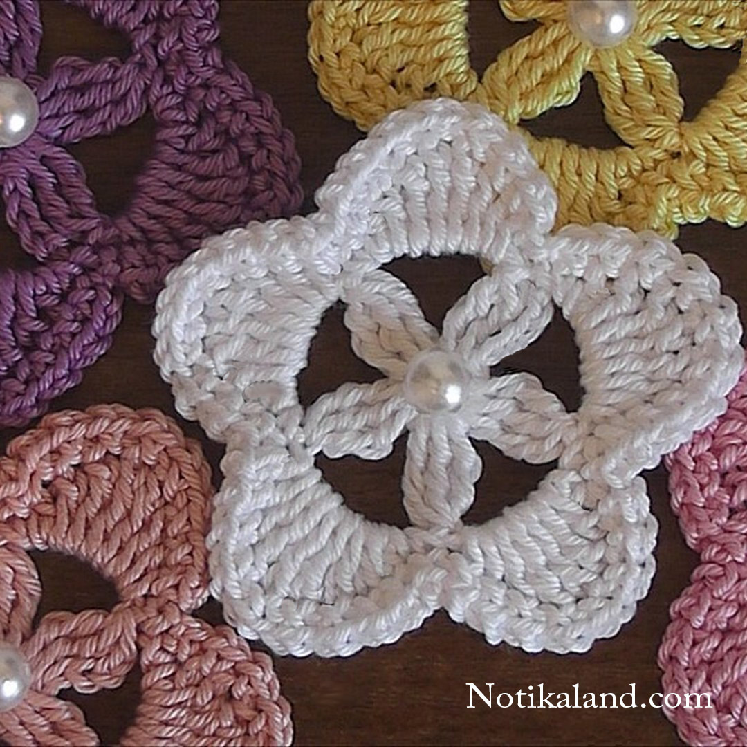 crochet flower easy crochet flower  applique