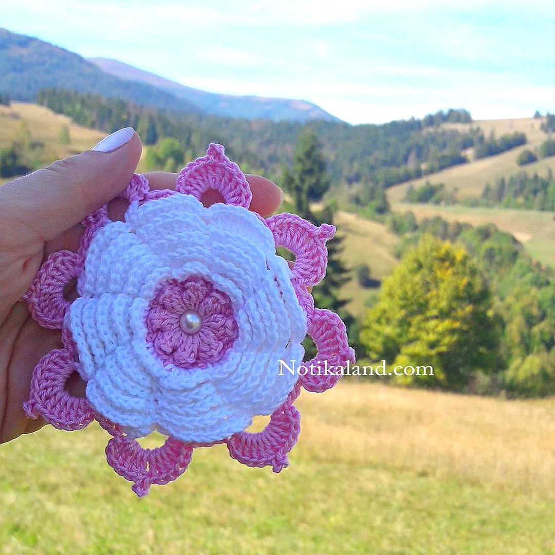 Crochet flower Rose Tutorial Step by step