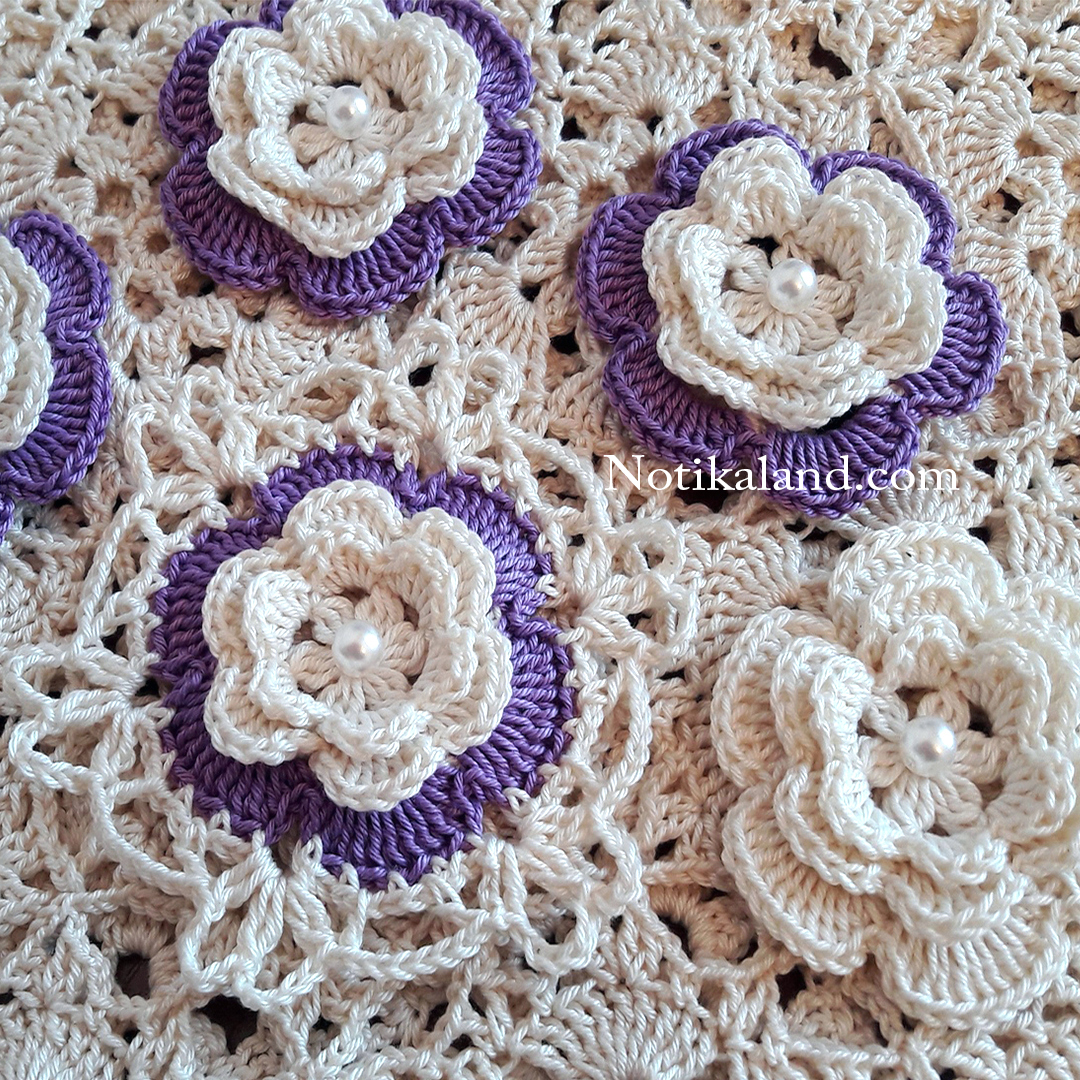Crochet flower tutorial for beginners  VERY EASY