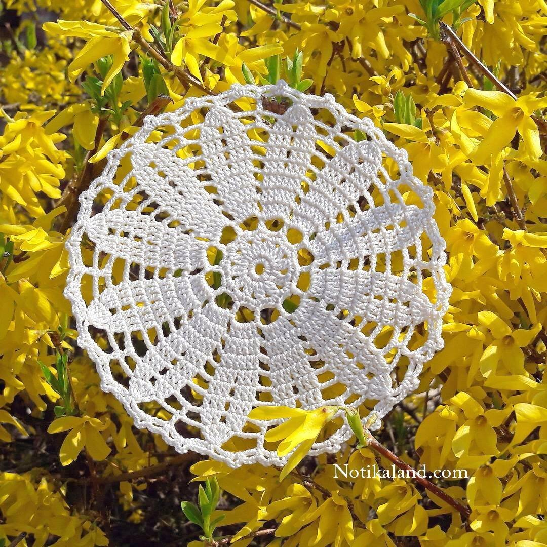 crochet mini doily diagram pattern