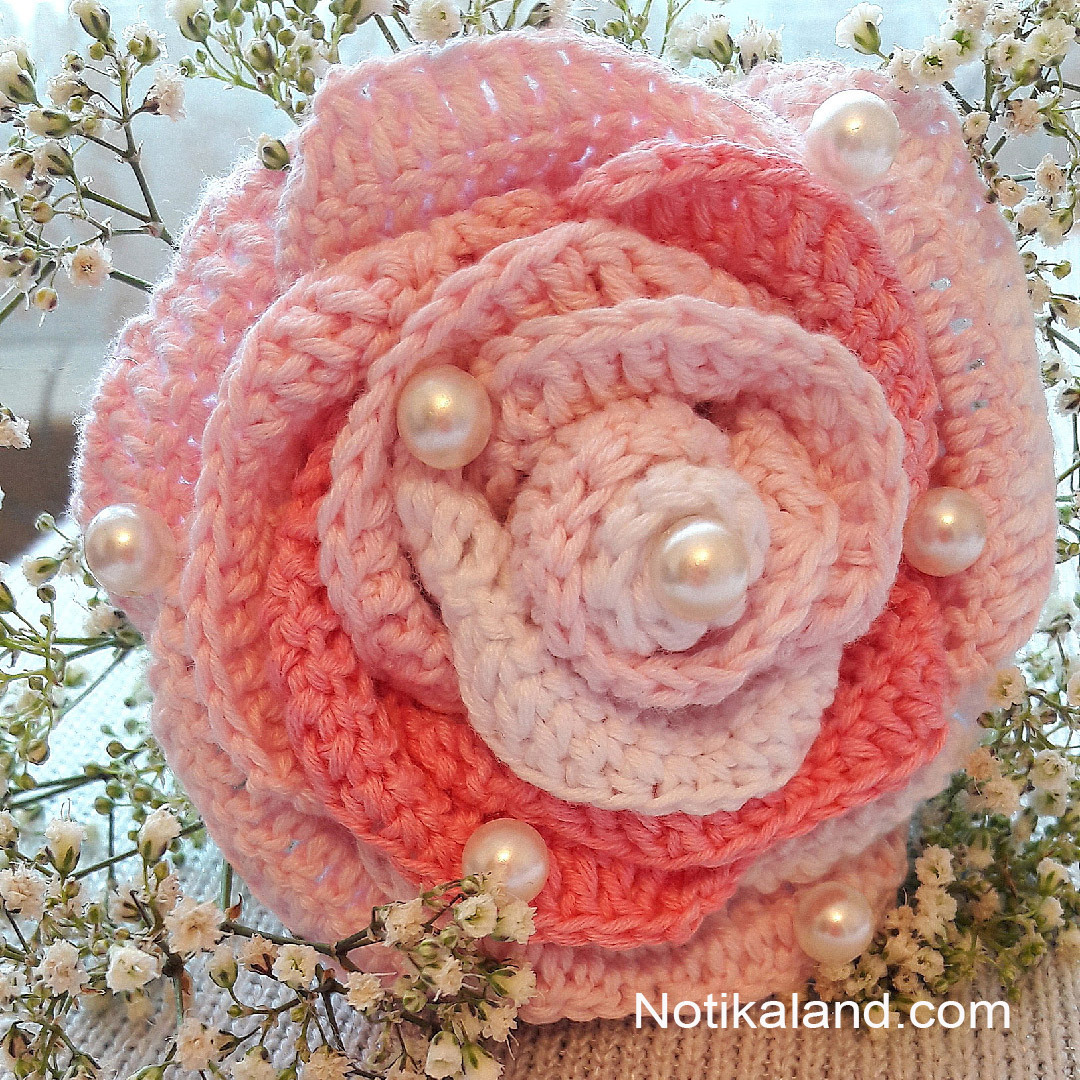 Crochet Flower Rose. Tutorial. Crochet flower idea.