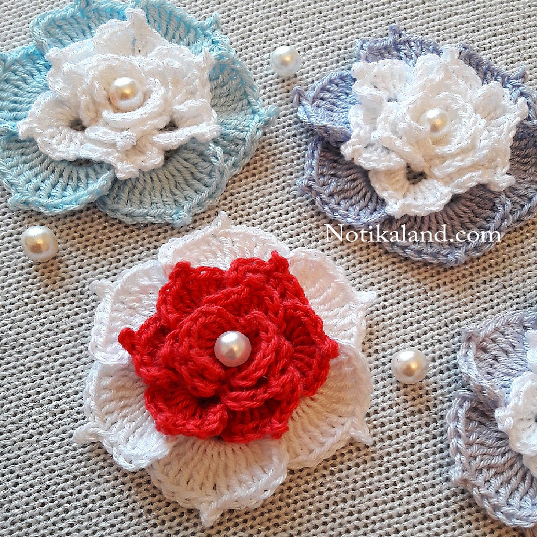 Crochet Flower Rose Very Easy