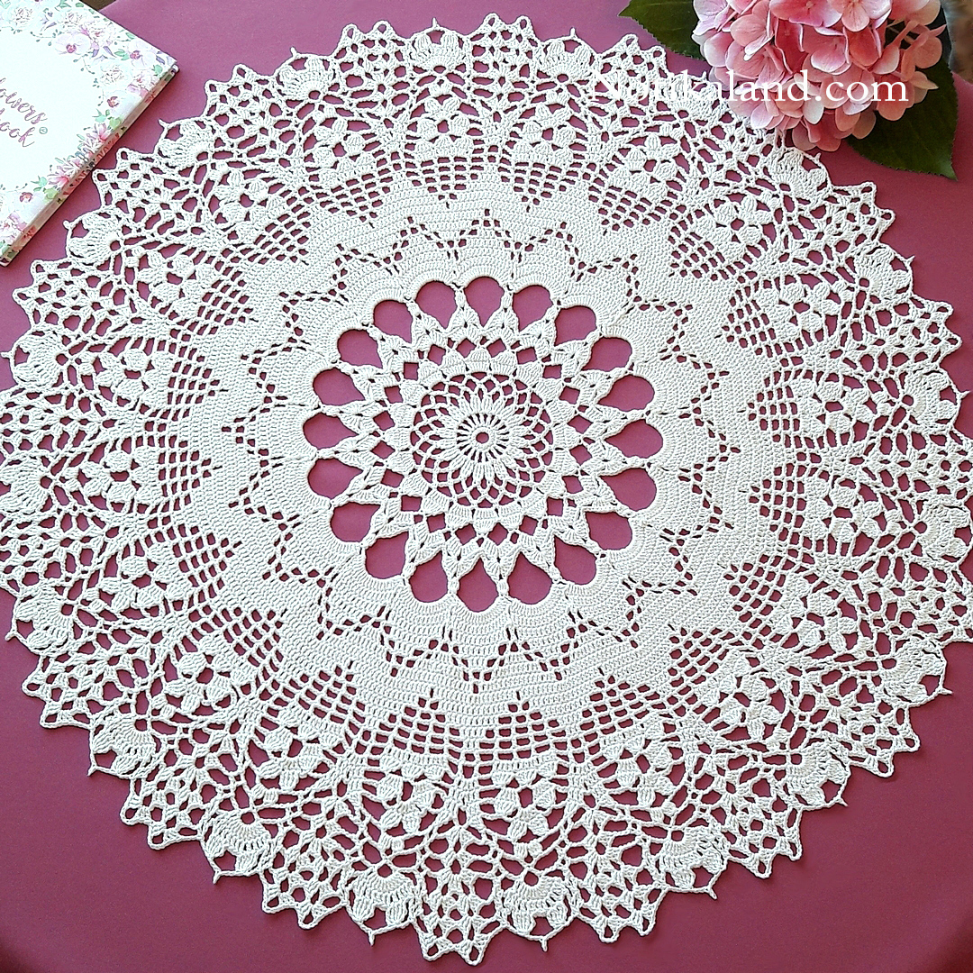 Crochet. Doily. Rug. Tutorial.