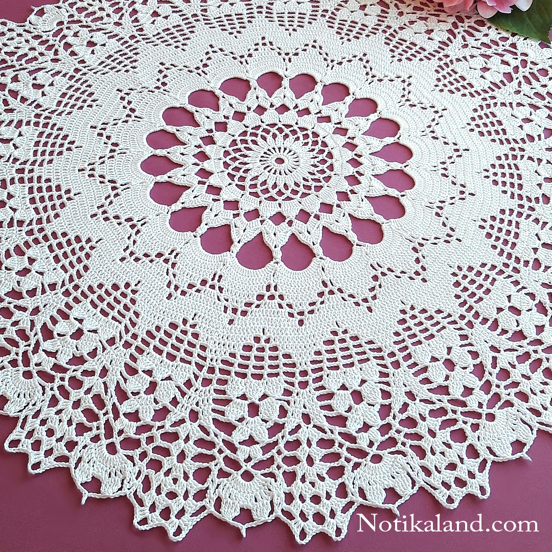 Crochet. Doily. Rug. Tutorial. 1