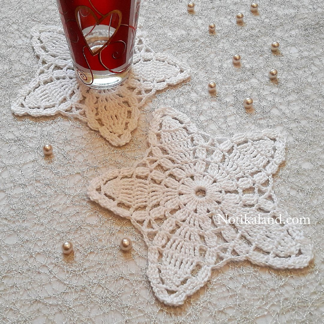 Crochet Flower Doily Coaster