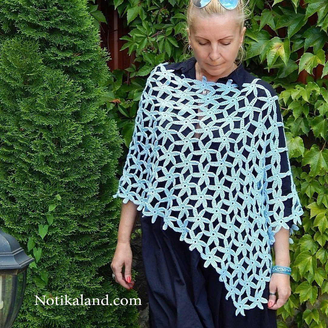 Crochet: Pattern for Poncho Shawl Scarf