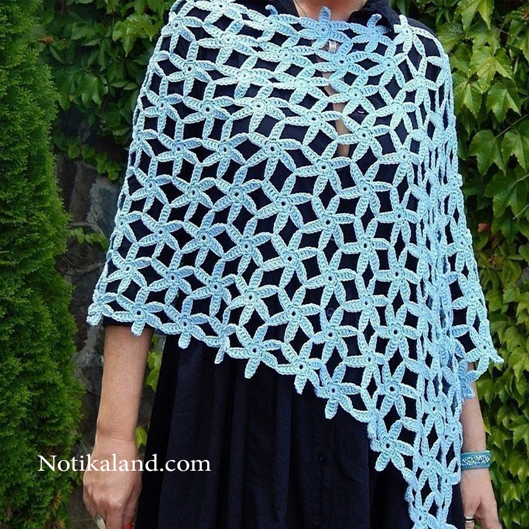 Crochet: Pattern for Poncho Shawl Scarf 1