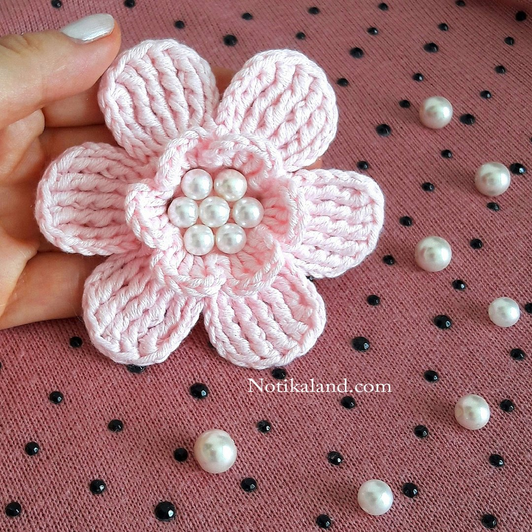 DIY Tutorial Crochet  Flower EASY