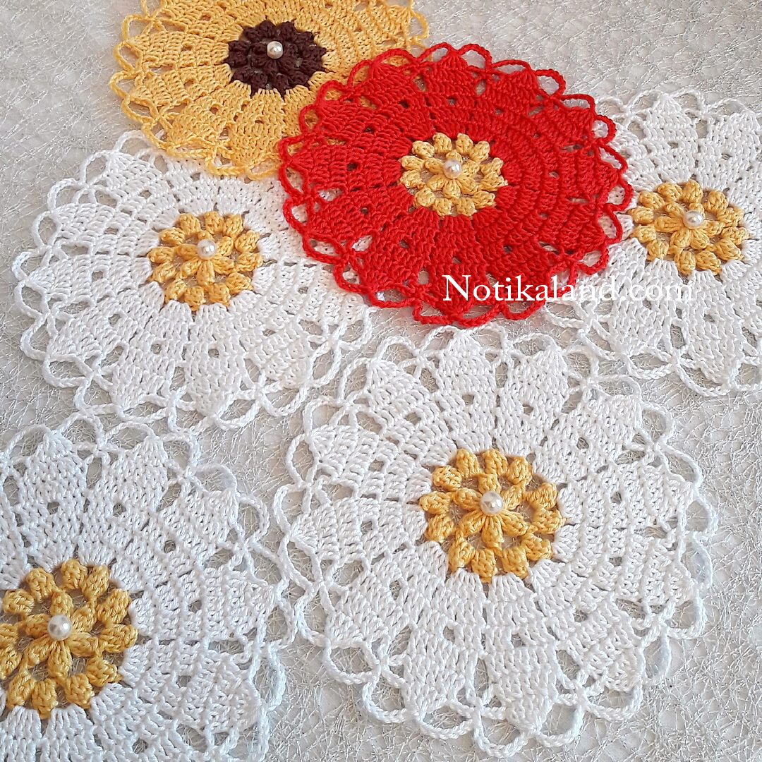Crochet Doily Flower