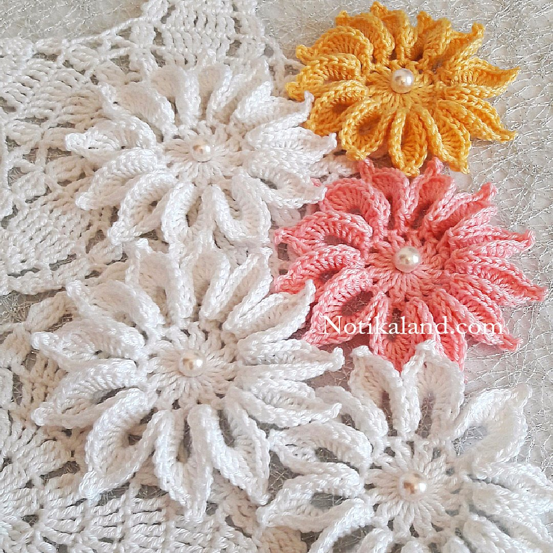 How to crochet flower Tutorial VERY EASY