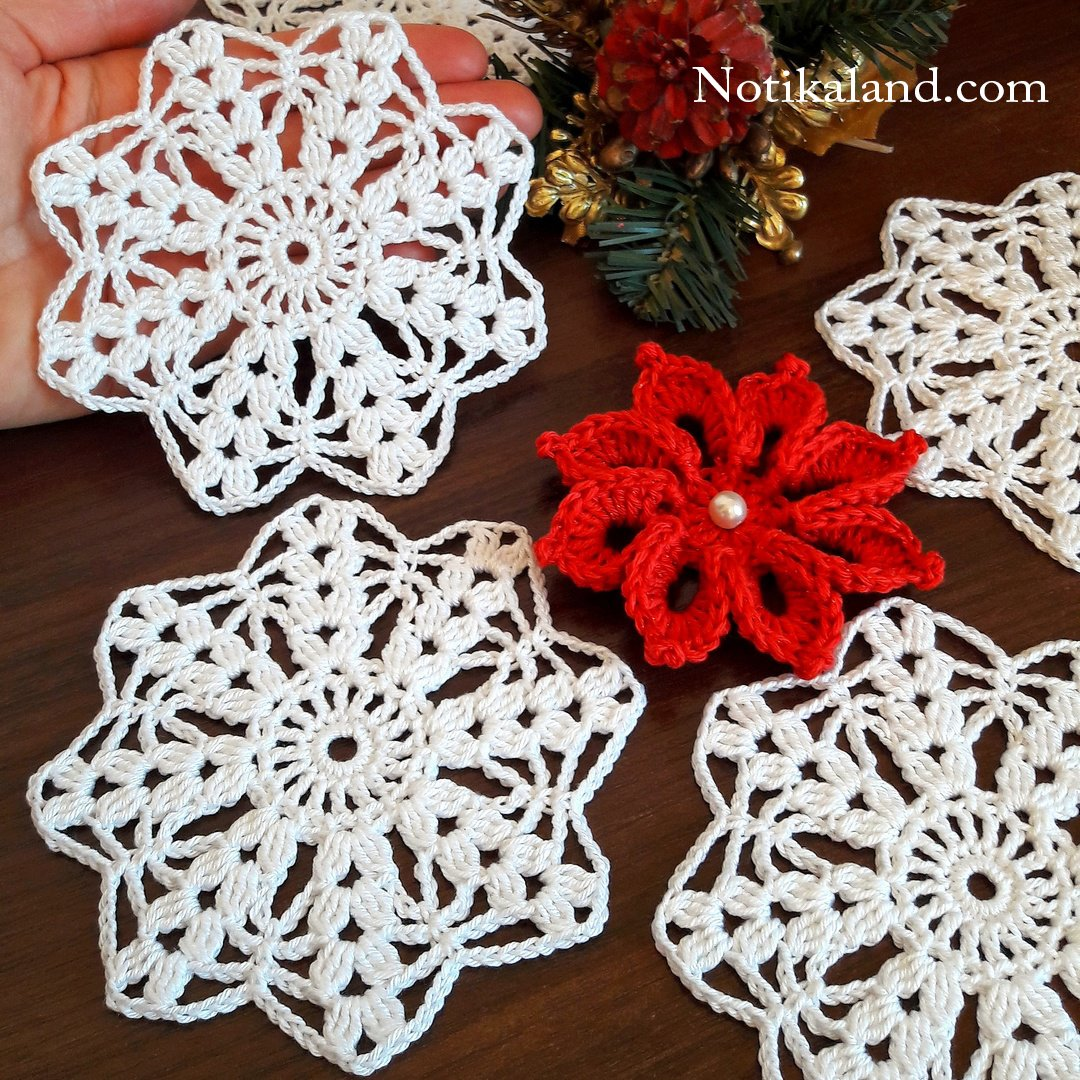 CROCHET Motif Snowflake for blanket